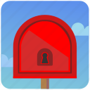 enter, locked, mail, mailbox, post, postbox icon