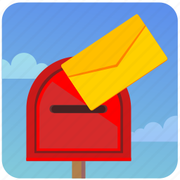 letter, mailbox, message, postbox, send icon