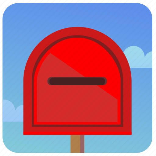 mail, mailbox, message, post, postbox icon