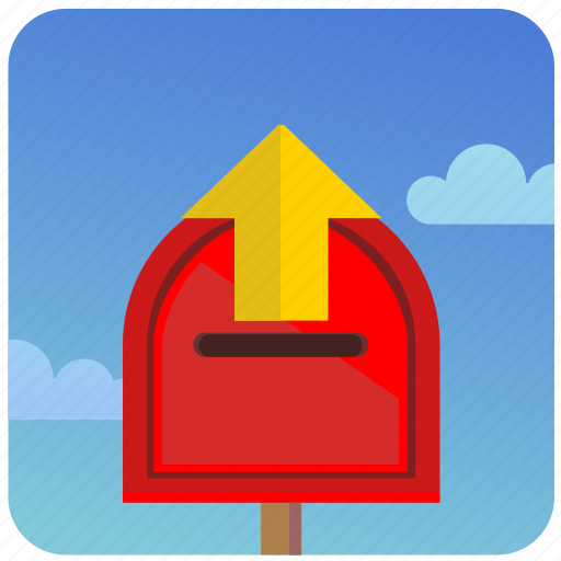 letters, mail, outbox, post, postbox icon