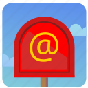 electronic, email, letter, mail, mailbox, post, postbox icon