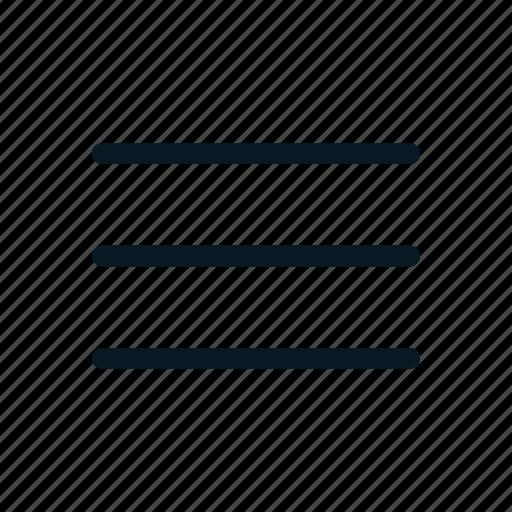 hamburguer menu, list, menu, navigation, options icon