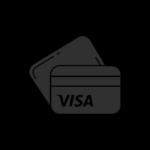 atm cards, credit cards, debit cards, visa icon