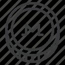 cryptocurrency, digital, monero, xmr icon