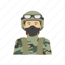 army, camouflage, female, goggles, headshot, outfit, soldier