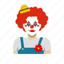 clown, headshot, outfit icon