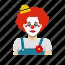 clown, headshot, outfit