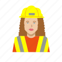 construction worker, female, girl, headshot, outfit, woman
