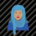 cultural outfit, female, hajib, headshot, muslim