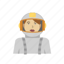 astronaut, female, galaxy, headhsot, outfit, space