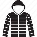 clothes, clothing, hood, hoodie, jacket icon