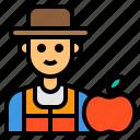 friut, nutritionist, man, occupation, avatar icon