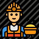 occupation, mine, man, worker, avatar icon