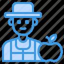 nutritionist, man, occupation, avatar, friut icon