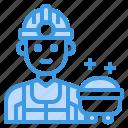 worker, man, occupation, avatar, mine icon