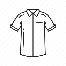 button down shirt, clothes, collared shirt, male clothes, male shirt, shirt icon