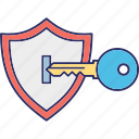 access key, cyber key, digital access, private key icon