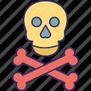 cranium, crossbones, halloween, jolly roger icon
