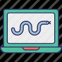 bacterium, computer virus, computer worm, quarantine icon