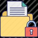 data encryption, folder security, locked folder, secure data folder icon
