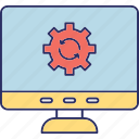 computer configuration, computer maintenance, computer preferences, computer setting icon
