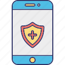 locked cell phone, mobile security, phone security, protected phone icon
