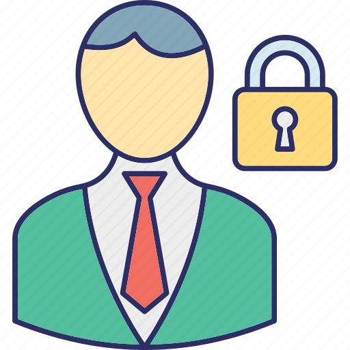 protected avatar, protected user, safe person, secure profile icon