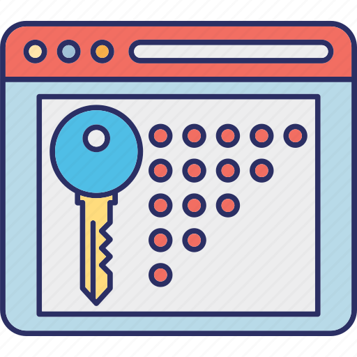 locked website, need password, protected website, web protection icon