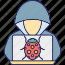 cybercriminal, hacker, hacker activity, hacktivist icon
