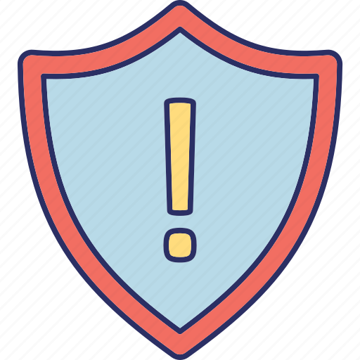 attention sign, emergency notification, security alert, security attention icon