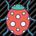 bacterium, bug, computer virus, quarantine icon