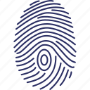biometric identification, dactylogram, fingerprint, fingers identity icon