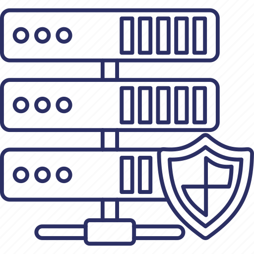 access denied, data protection, data safety, data server security icon