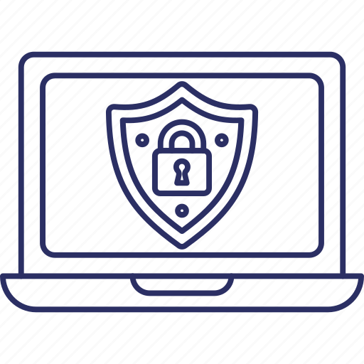 antivirus protected, certified security, protection technology, security approved icon