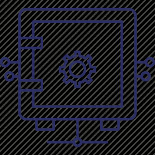 network safe locker, network safe vault, network safebox, network secure locke icon