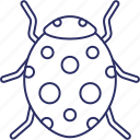 bacterium, bug, computer virus, quarantine icon