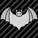 bat, halloween, vampire, wings