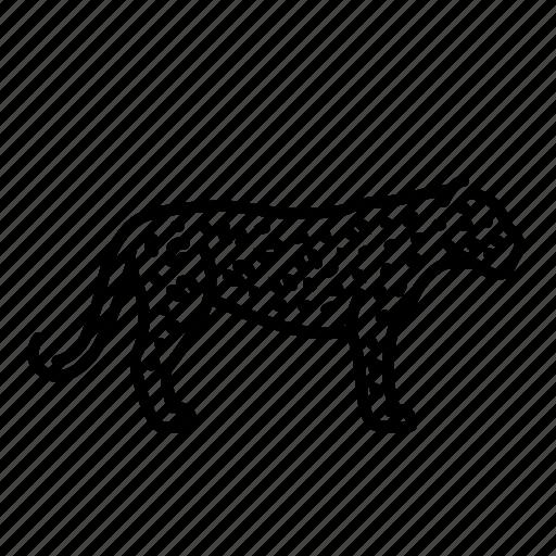 animal, cat, leopard, mammal, nature, wildlife icon
