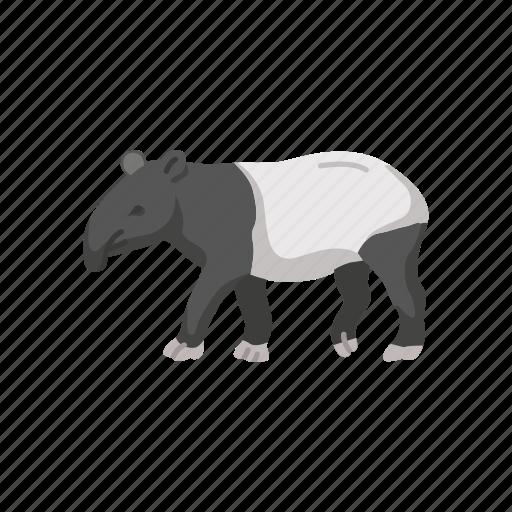 animals, herbivorous mammal, mammal, mountain tapir, pig-like, tapir icon