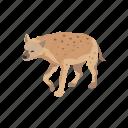 aardwolf, animals, feline, hyena, mammal, scavenger icon