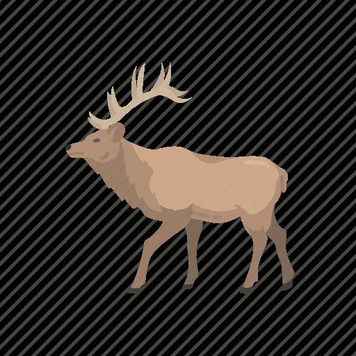 animal, deer, elk, mammal, moose, wapiti icon