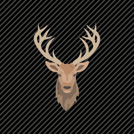 animals, elk, elk head, head, mammal, wapiti, wapiti head icon