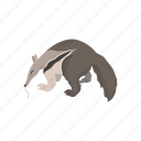 animals, anteater, giant anteater, mammal, worm tongue icon