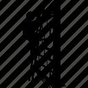 ladder, wall, climbing, man, person icon