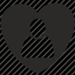 heart, love, man, person icon