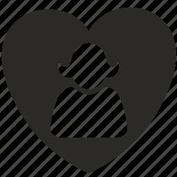 female, heart, love, woman icon