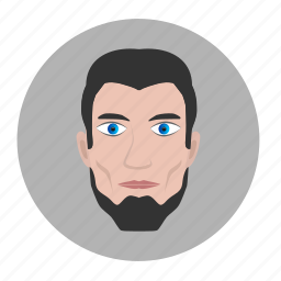 asia, avatar, beard, face, man, strong icon