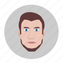 avatar, beard, brown, hair, man, style