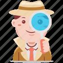 business, detective, job, male, man, person, profession