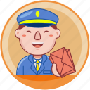 business, job, male, man, person, postman, profession